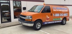 Water Damage Allapattah Van Ready At Job Site