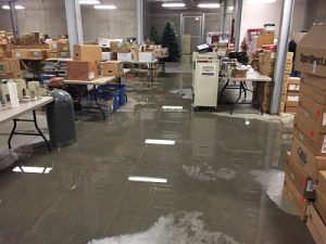 Flooded Warehouse Space